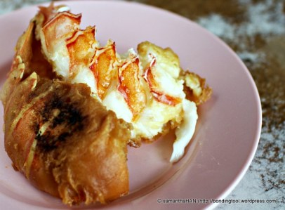 Tyng said she preferred the texture of the fried lobster to the one cooked in superior stock.