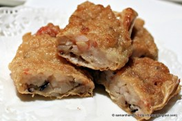 Deep-fried beanskin roll, another Dim Sum classic from the fried food items.