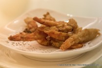 Deep-fried jumbo-sized Dried Shrimps.