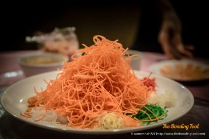 Prosperity Yu Sheng with Salmon.