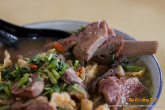 Delicious bowl of mutton and tendons. This was the deluxe portion with everything.