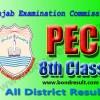 PEC 8th Class Result 2016