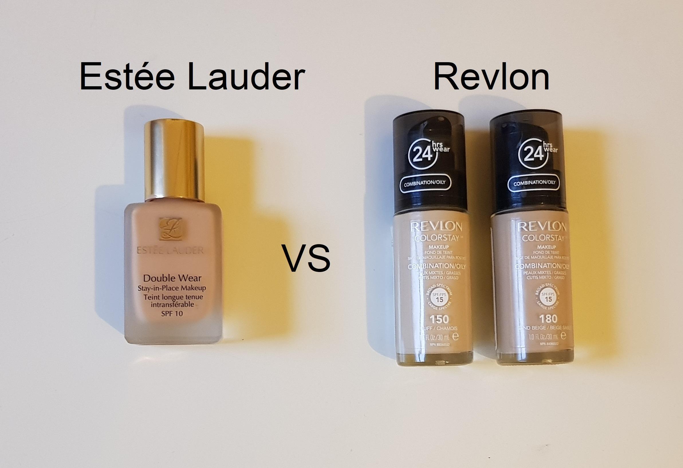 Battle of the foundations estee lauder double wear vs revlon color stay  chemist   verdict on whether it is true dupe bonds beauty also rh