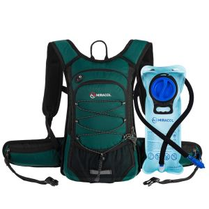Green Water Hydration Backpack
