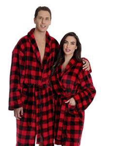 Matching Couples Buffalo Plaid Robes