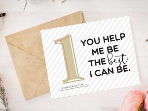 Enneagram 1 Card by Pure Endeavors