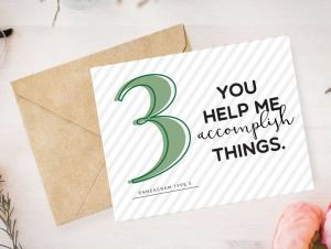 Enneagram 3 Card by Pure Endeavors
