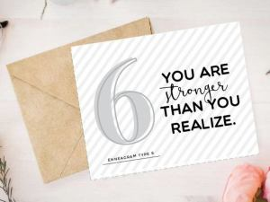 Enneagram 6 Card by Pure Endeavors
