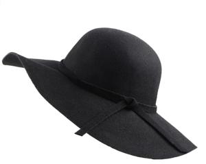 Black Fall Floppy Hat