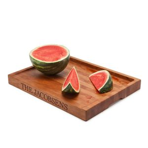 Personalized Juice Catching Cutting Board