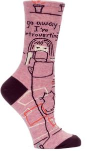 Go Away I'm Introverting Socks