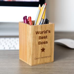 World's Best Boss Pen Holder