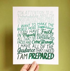 I Am Prepared Enneagram Six Affirmation Print