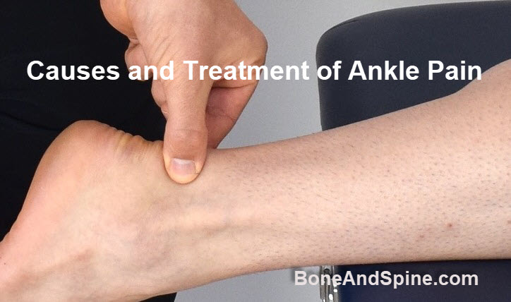 Ankle pain causes and treatment