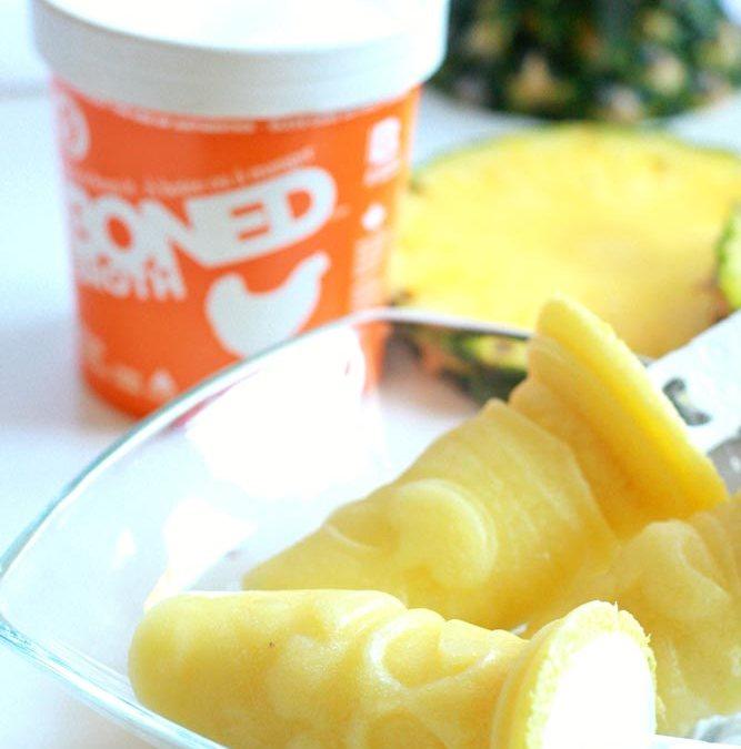 Pineapple Coconut BONED Brothsicles