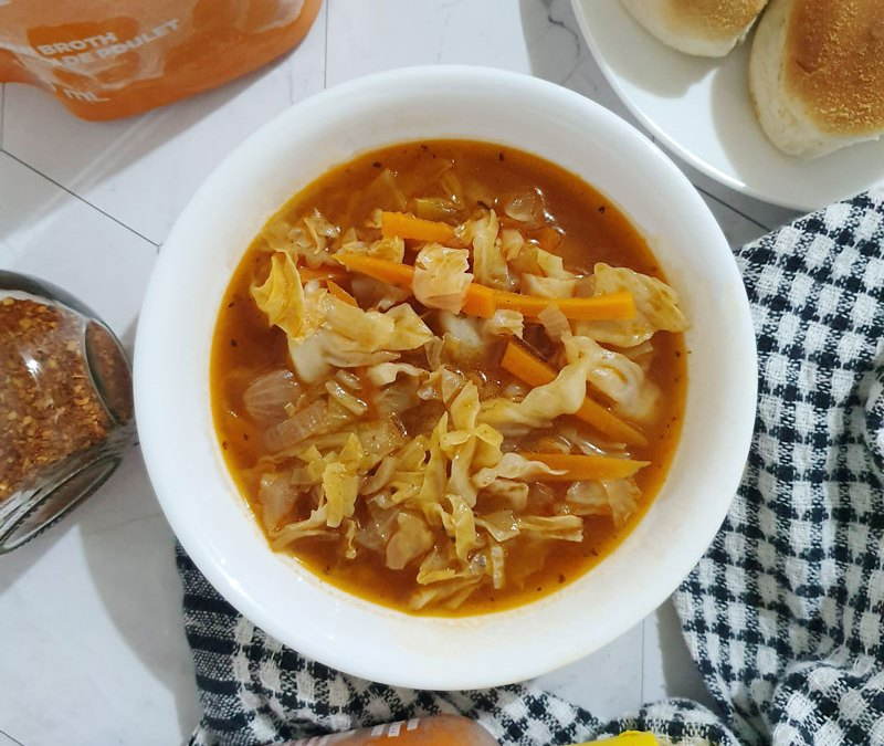 Cabbage Soup with Bone Broth
