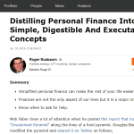 Seeking Simple Solutions For Personal Finance? Look No Further!