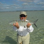 fisherman showing bonefish