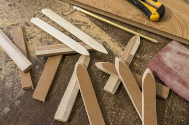 Фальцбейны из кости и ламината (в качестве замены дереву)