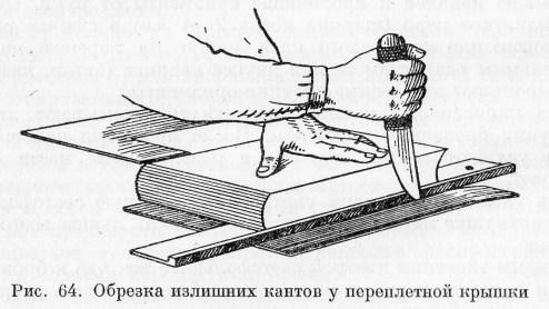 Иллюстрация из книги А. К. Здориков — Переплетное дело, 1955