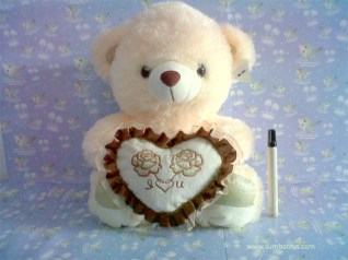 Bear cream love coklat