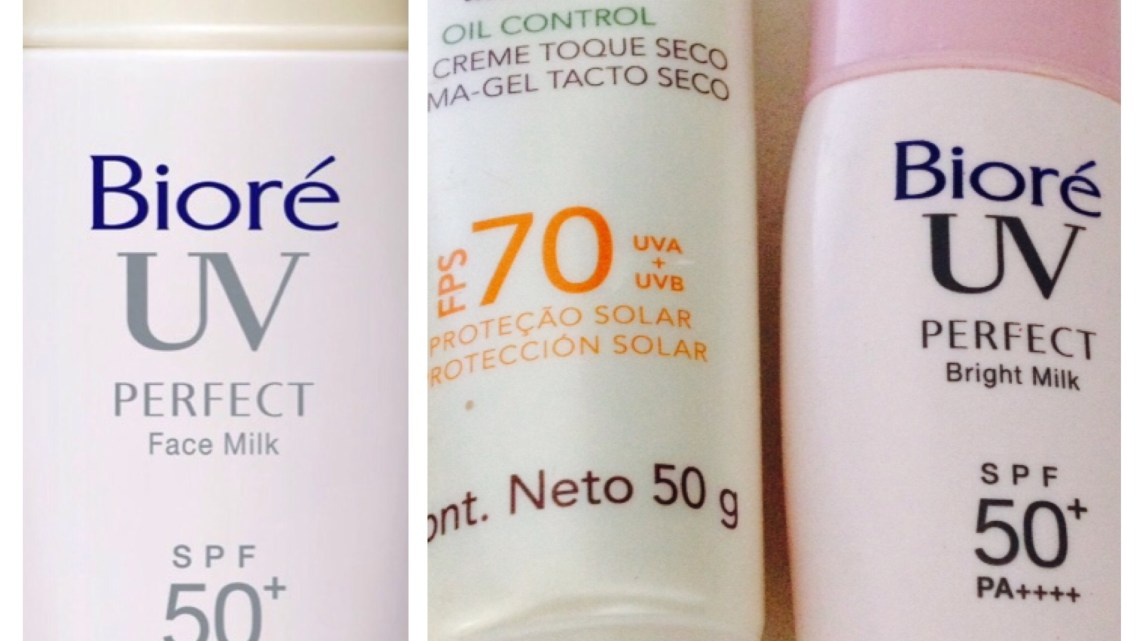 Protetores solar- Minesol Oil Control X Bioré Perfect Face Milk X Bioré Perfect Bright Milk: Resenha