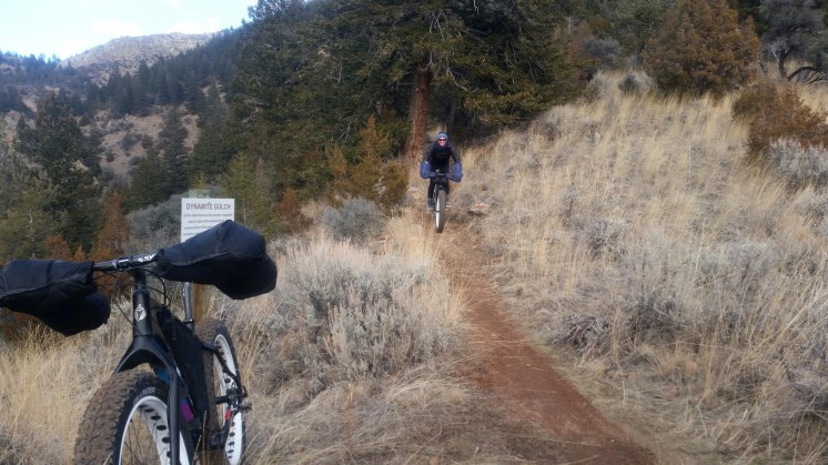 Spring mountain bike riding at Lewis and Clark Caverns