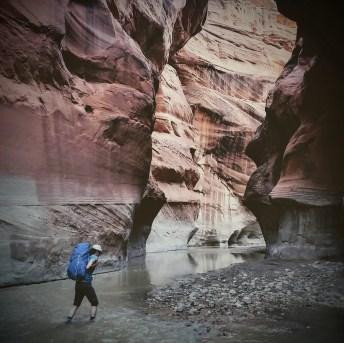 Dark lonesome hike