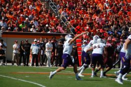 East Carolina quarterback Philip Nelson goes downfield. (Photo by Al Myatt)
