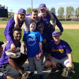 The ECU Pirates team up with the Exceptional Community Baseball League. (04.02.17 photo #5 by Brian Bailey)
