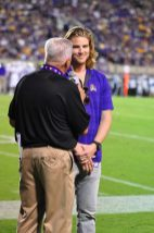 Former East Carolina quarterback Shane Carden was on hand as East Carolina opened the 2017 campaign against James Madision Saturday evening.