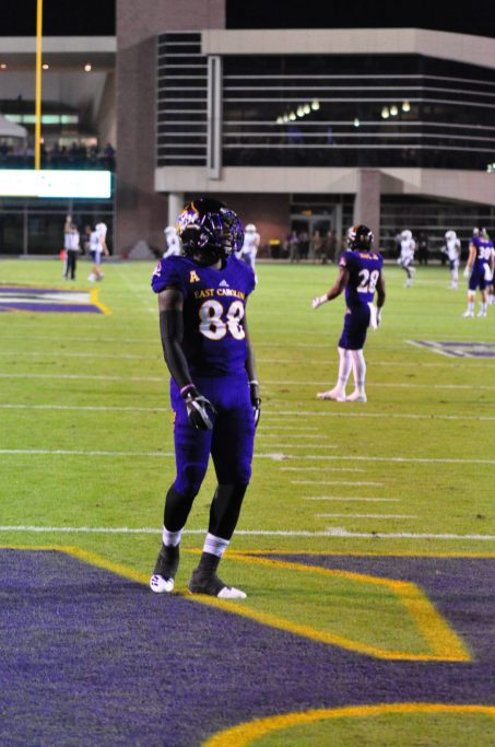 Trevon Brown had some positive interaction with fans in the Boneyard before returning a kickoff. (Photo by Al Myatt)