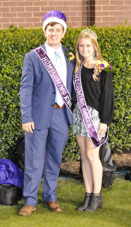 Homecoming king and queen Rhys Collins of Cary and Rebecca Parada of Garner. (Photo by Al Myatt)