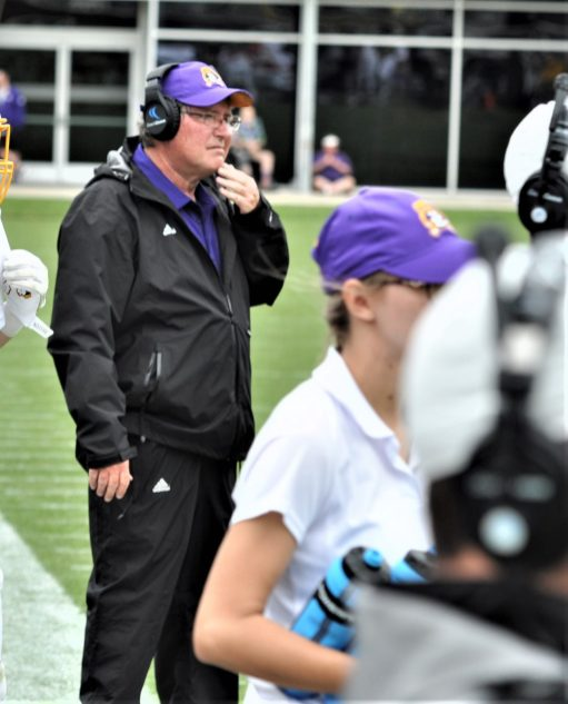 Steve Shankweiler is back as offensive line coach for the Pirates. (Photo by Al Myatt)