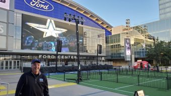 Brian Bailey in front of AT&T Stadium (submitted photo)