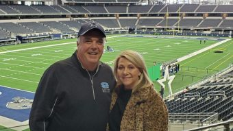 Brian and Melissa Bailey in the stands at AT&T Stadium (submitted photo)