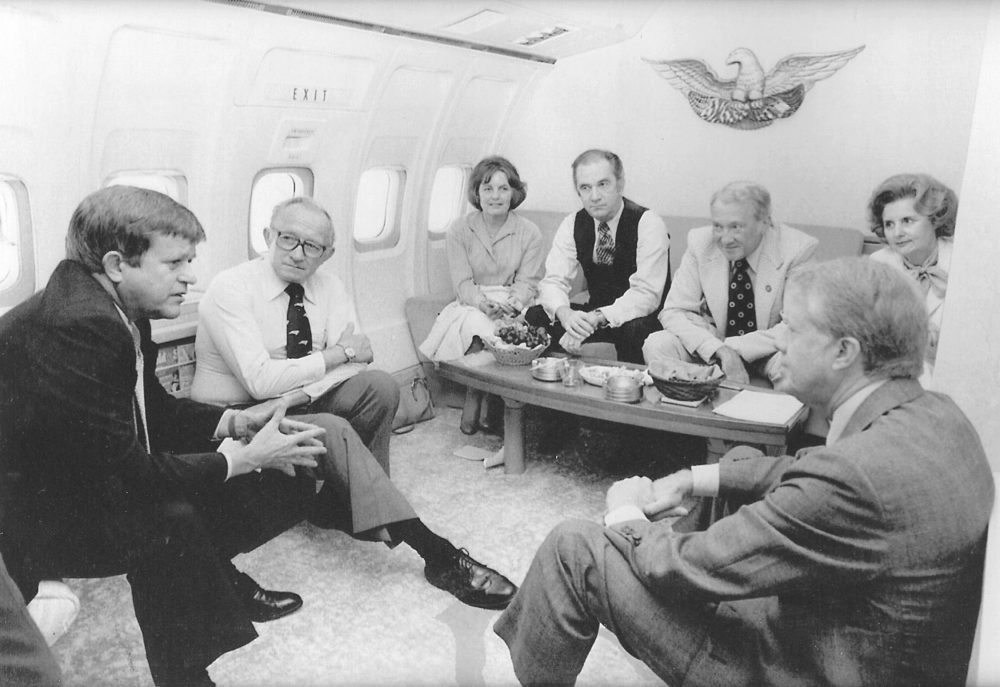 Sen. Robert Morgan on Air Force One during Jimmy Carter Presidency