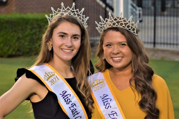 Pirate royalty includes MacKenzie Rouse (left) of Washington, N.C., and Lydia Pinto from Gold Hill, N.C. (Al Myatt photo)
