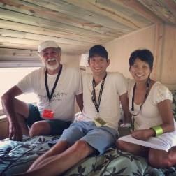 One of my new favorite builders: Byron of Simblissity Tiny homes along with Alec Lifeski of the Tiny Project and Vina Lustado of Sol Haus Design.