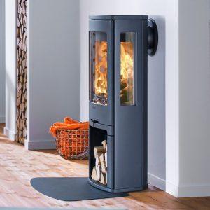 Contura 750 wood burning stove in black