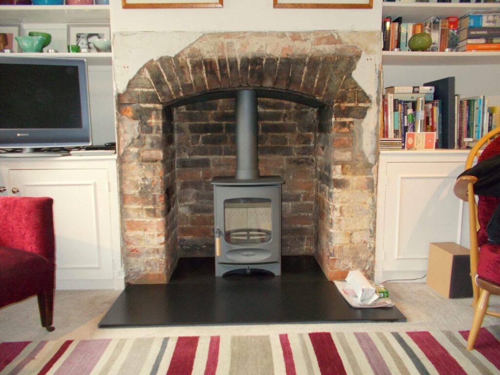 Gun Metal C four and slate hearth 1