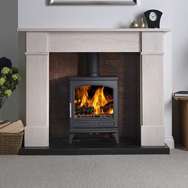 ACR Ashdale fitted in a surround with a hearth