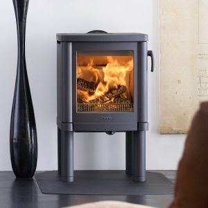 Contura 51 wood burning stove with tall legs