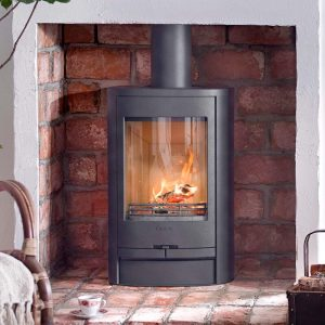 Contura 810l wood burning stove in black