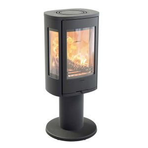 Contura 886 Style wood burning stove in black