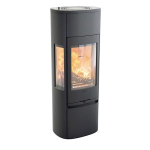 Contura 896 style wood burning stove free standing in black