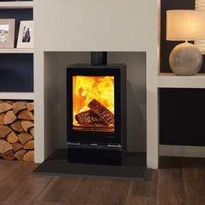 vision midi t woodburning with optional glass top plate and glass plinth mi 1 1
