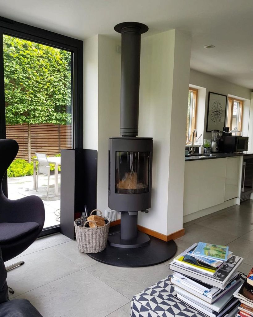 Dovre Astroline 4CB wood burning stove installation