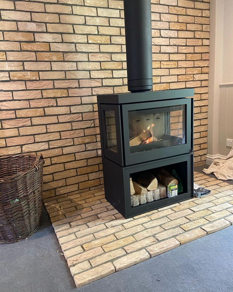 Barbas Box Panorama 65 Wood Burning Stove Installation