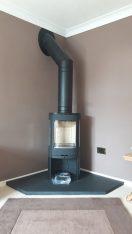 Contura 850 wood burning stove installation